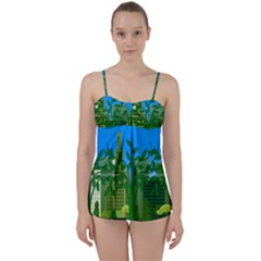 Environmental Protection Babydoll Tankini Set