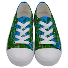 Environmental Protection Kids  Low Top Canvas Sneakers