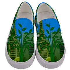 Environmental Protection Men s Canvas Slip Ons