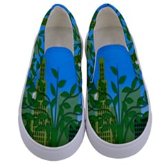 Environmental Protection Kids  Canvas Slip Ons
