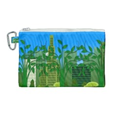 Environmental Protection Canvas Cosmetic Bag (large)