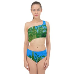 Environmental Protection Spliced Up Two Piece Swimsuit