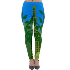 Environmental Protection Lightweight Velour Leggings