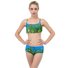 Environmental Protection Layered Top Bikini Set