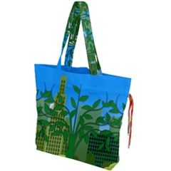 Environmental Protection Drawstring Tote Bag
