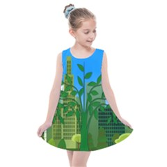 Environmental Protection Kids  Summer Dress