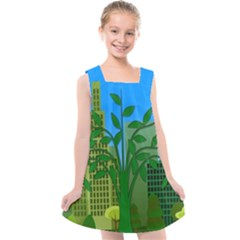 Environmental Protection Kids  Cross Back Dress by Nexatart