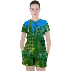 Environmental Protection Women s Tee And Shorts Set