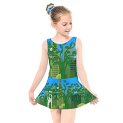 Environmental Protection Kids  Skater Dress Swimsuit