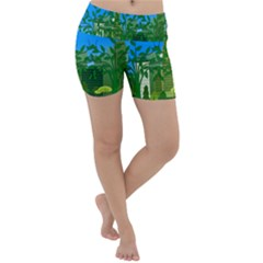 Environmental Protection Lightweight Velour Yoga Shorts