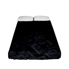 Black Rectangle Wallpaper Grey Fitted Sheet (full/ Double Size)