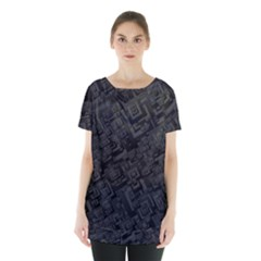 Black Rectangle Wallpaper Grey Skirt Hem Sports Top