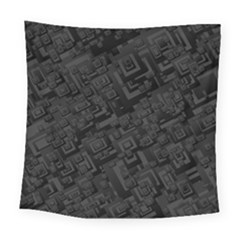 Black Rectangle Wallpaper Grey Square Tapestry (large)