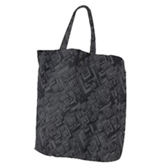 Black Rectangle Wallpaper Grey Giant Grocery Tote