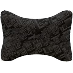 Black Rectangle Wallpaper Grey Seat Head Rest Cushion
