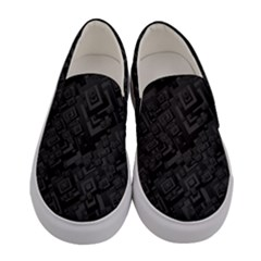 Black Rectangle Wallpaper Grey Women s Canvas Slip Ons