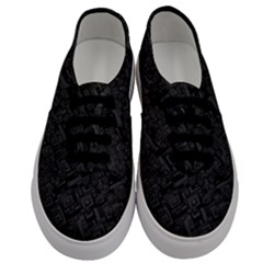 Black Rectangle Wallpaper Grey Men s Classic Low Top Sneakers