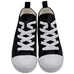 Black Rectangle Wallpaper Grey Kid s Mid Top Canvas Sneakers