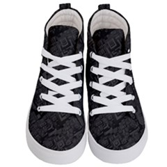 Black Rectangle Wallpaper Grey Kid s Hi Top Skate Sneakers