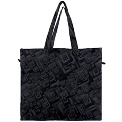 Black Rectangle Wallpaper Grey Canvas Travel Bag