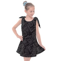 Black Rectangle Wallpaper Grey Kids  Tie Up Tunic Dress
