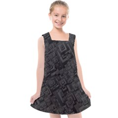 Black Rectangle Wallpaper Grey Kids  Cross Back Dress