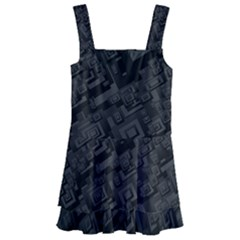 Black Rectangle Wallpaper Grey Kids  Layered Skirt Swimsuit