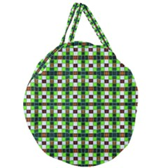 7 Giant Round Zipper Tote