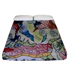Watercolor Postcard2 Fitted Sheet (california King Size)