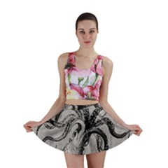 Vintage Octopus  Mini Skirt