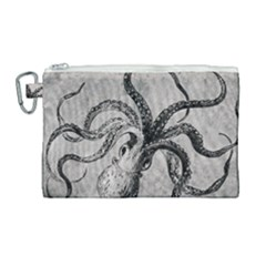 Vintage Octopus  Canvas Cosmetic Bag (large)