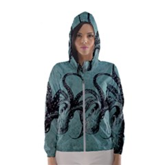 Vintage Octopus  Hooded Windbreaker (women)