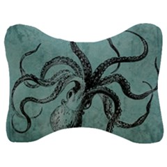 Vintage Octopus  Velour Seat Head Rest Cushion by Valentinaart
