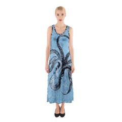 Vintage Octopus  Sleeveless Maxi Dress