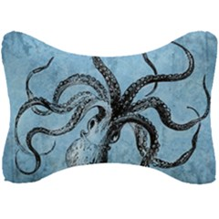 Vintage Octopus  Seat Head Rest Cushion by Valentinaart