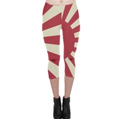 Rising Sun Flag Capri Leggings