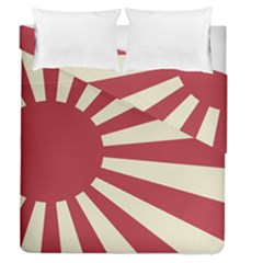 Rising Sun Flag Duvet Cover Double Side (queen Size)