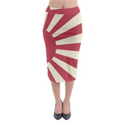 Rising Sun Flag Midi Pencil Skirt