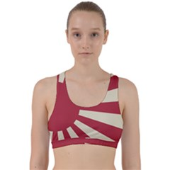 Rising Sun Flag Back Weave Sports Bra