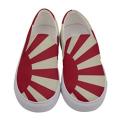 Rising Sun Flag Women s Canvas Slip Ons