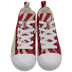 Rising Sun Flag Kid s Mid Top Canvas Sneakers