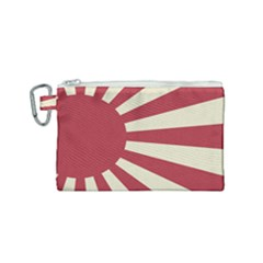 Rising Sun Flag Canvas Cosmetic Bag (small)