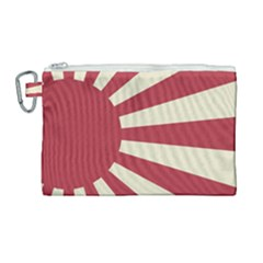 Rising Sun Flag Canvas Cosmetic Bag (large) by Valentinaart