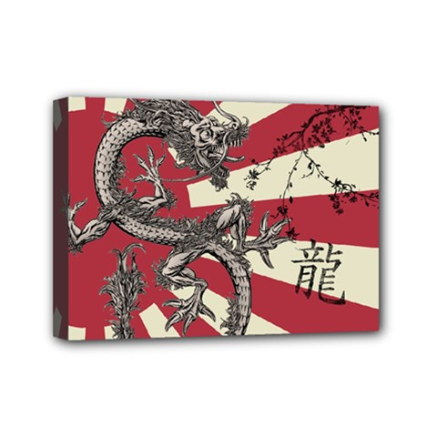 Rising Sun Flag Mini Canvas 7  X 5  (stretched)