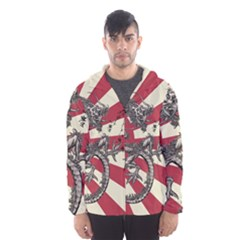 Rising Sun Flag Hooded Windbreaker (men)