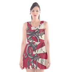 Rising Sun Flag Scoop Neck Skater Dress