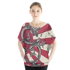 Rising Sun Flag Blouse