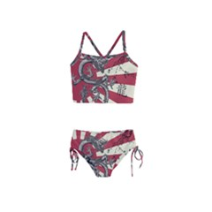 Rising Sun Flag Girls  Tankini Swimsuit