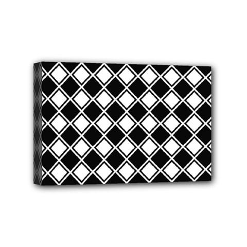 Square Diagonal Pattern Seamless Mini Canvas 6  X 4  (stretched)