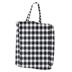 Square Diagonal Pattern Seamless Giant Grocery Tote